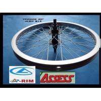 """Τροχοί ποδηλάτου βμχ Free Style Alex No 20"""" αλουμινίου ενισχυμένοι"""