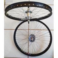 Τροχοί Shining 20X200-2125 αλουμινιου σετ διά ποδήλατα ΒΜΧ FreeStyle